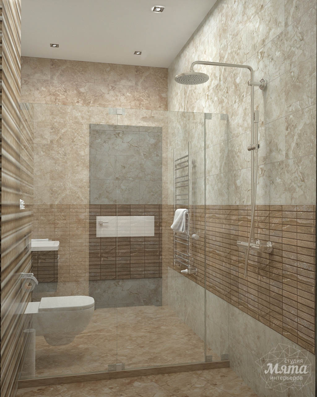 Дизайн проект интерьера коттеджа  в стиле минимализм по ул. Барвинка 15 img830472324
