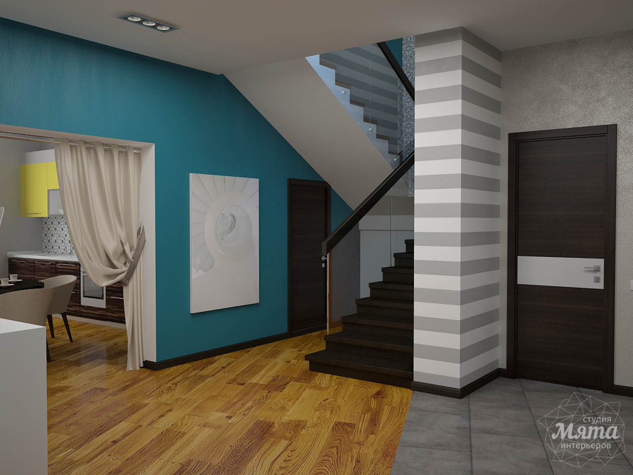 Дизайн проект интерьера коттеджа  в стиле минимализм по ул. Барвинка 15 img963754241