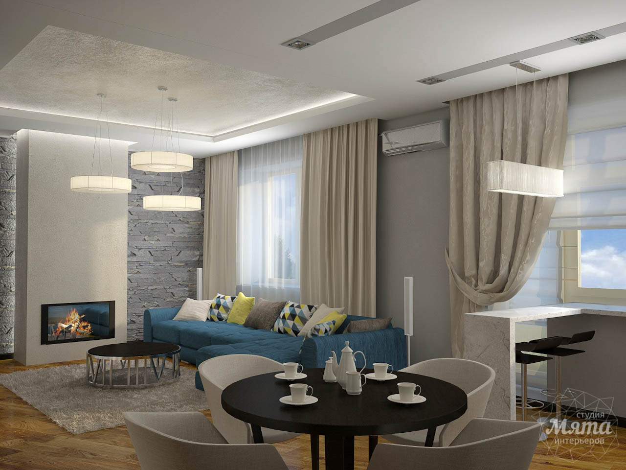 Дизайн проект интерьера коттеджа  в стиле минимализм по ул. Барвинка 15 img2130126172