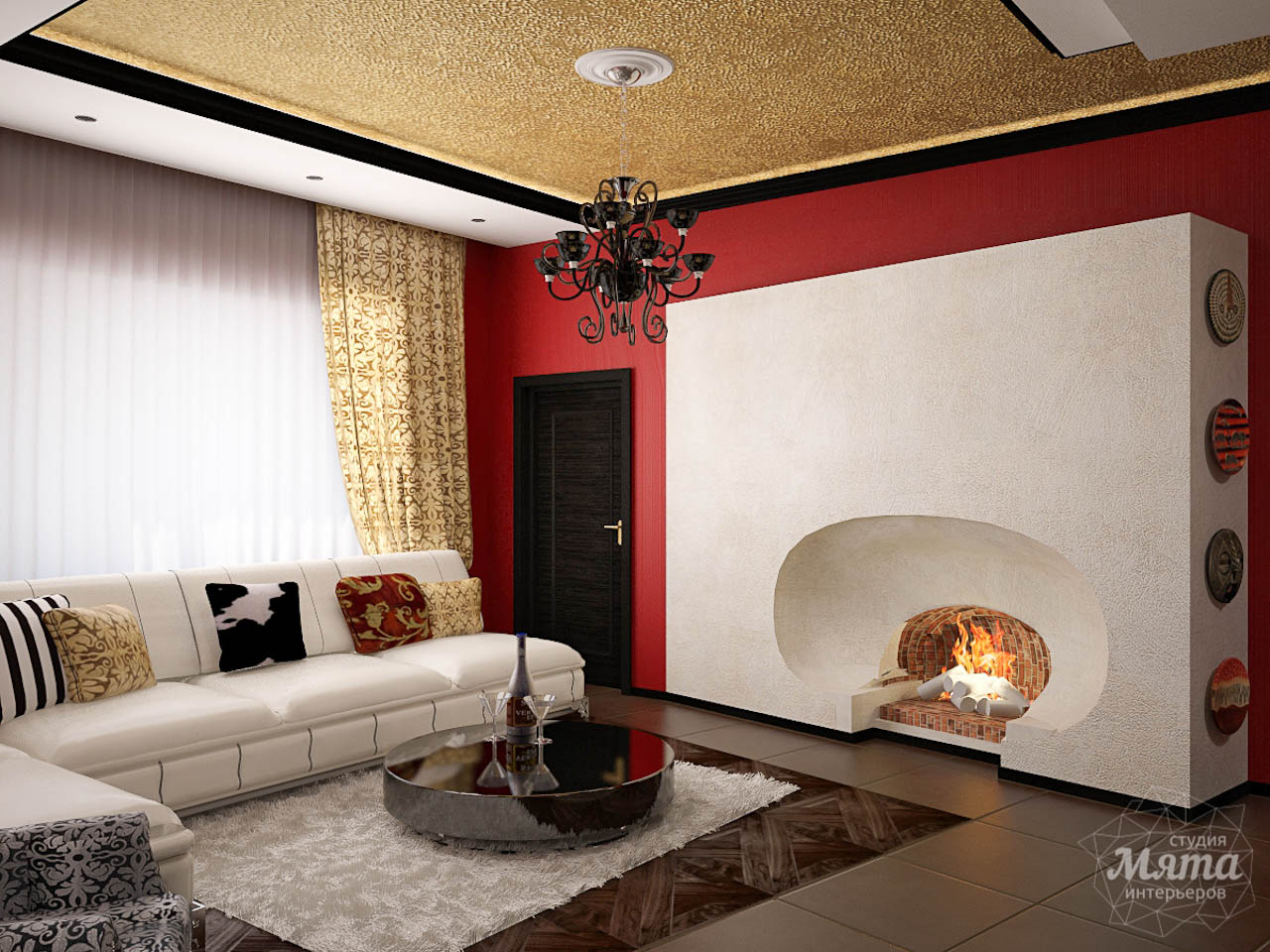 Дизайн интерьера коттеджа первого этажа по ул. Урожайная 17 img1256334112
