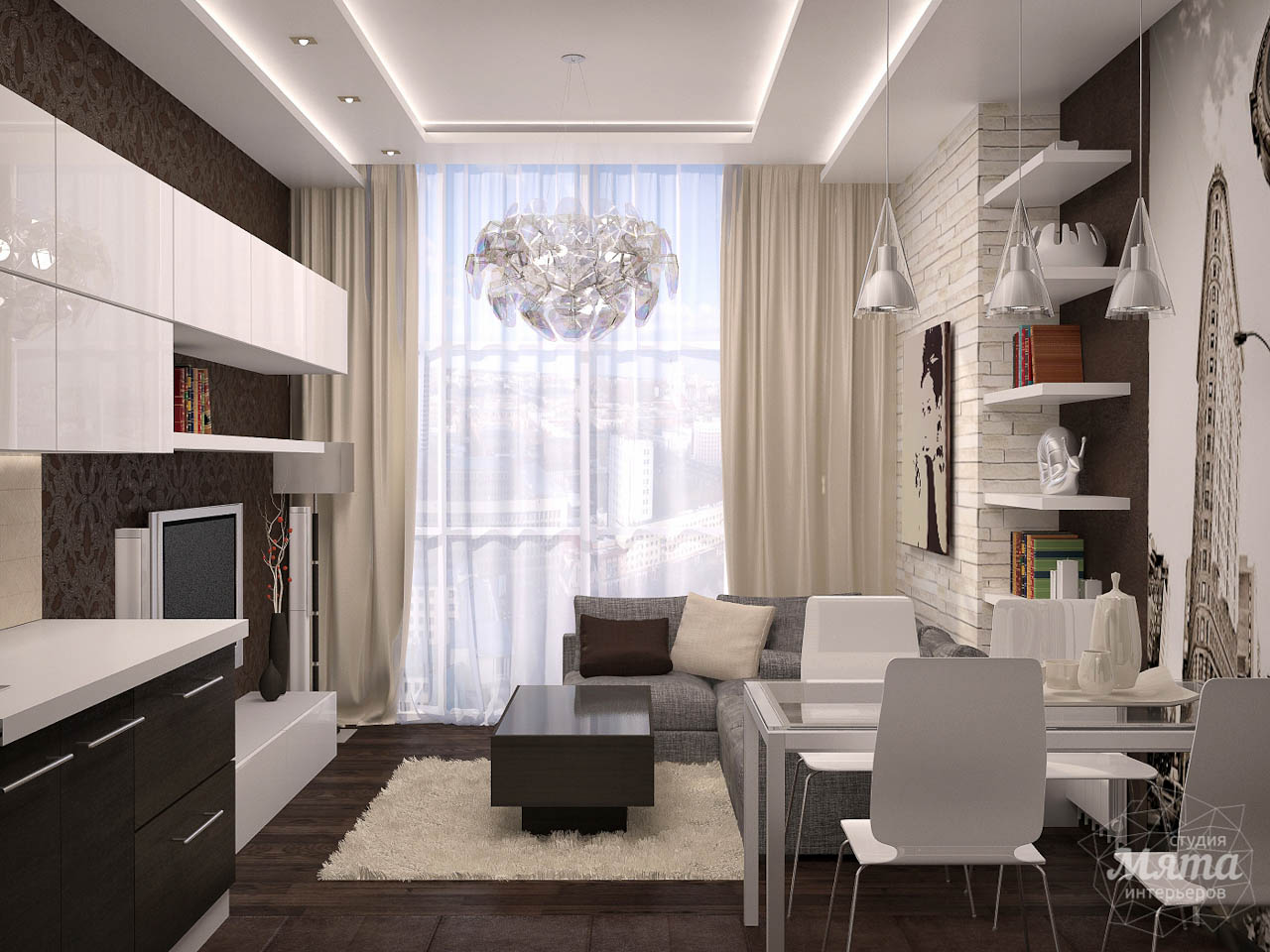 Дизайн интерьера трехкомнатной квартиры по ул. Папанина 18 img1958620809