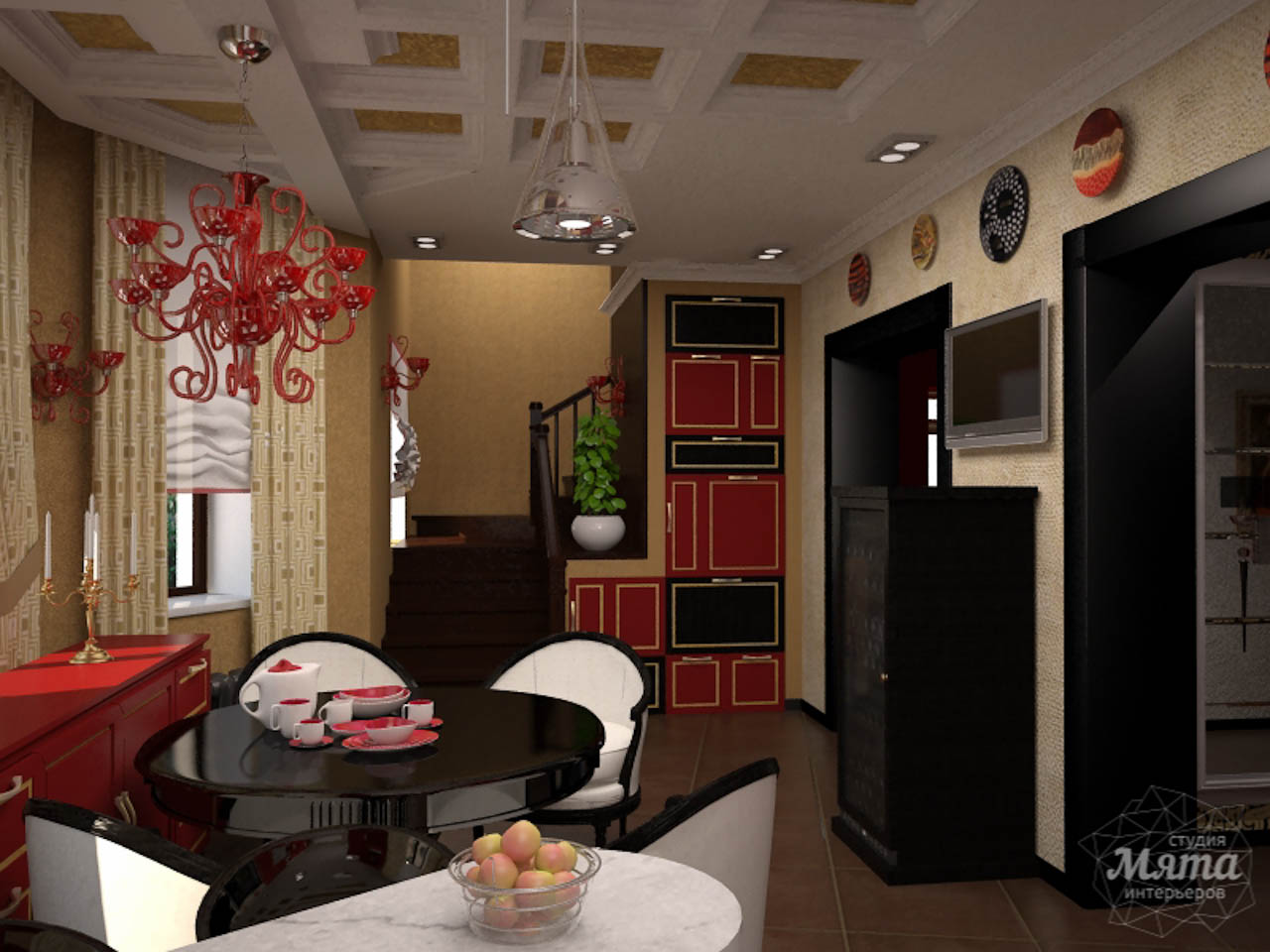 Дизайн интерьера коттеджа первого этажа по ул. Урожайная 17 img1996066658