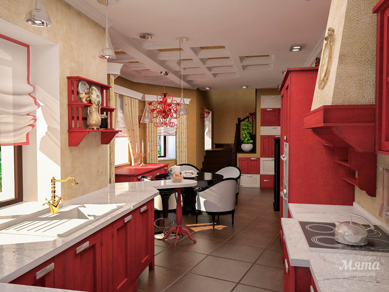Дизайн интерьера коттеджа первого этажа по ул. Урожайная 17 img1297821677