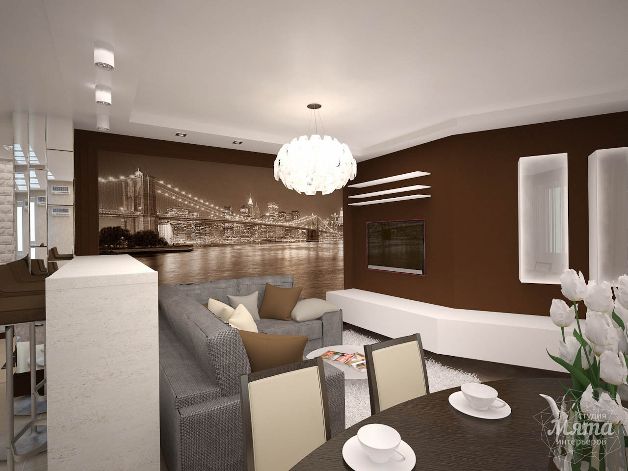 Дизайн интерьера трехкомнатной квартиры по ул. Белинского 222 img1089957428