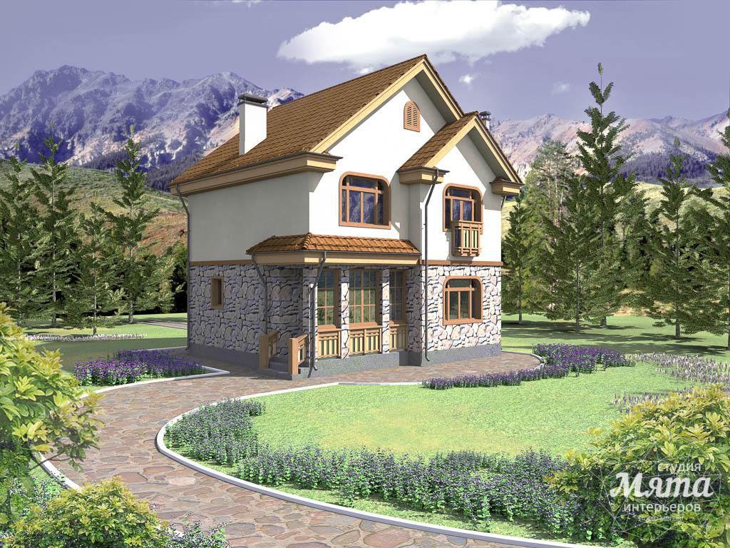 Дизайн фасада частного дома 100м2 в Щелкун 1