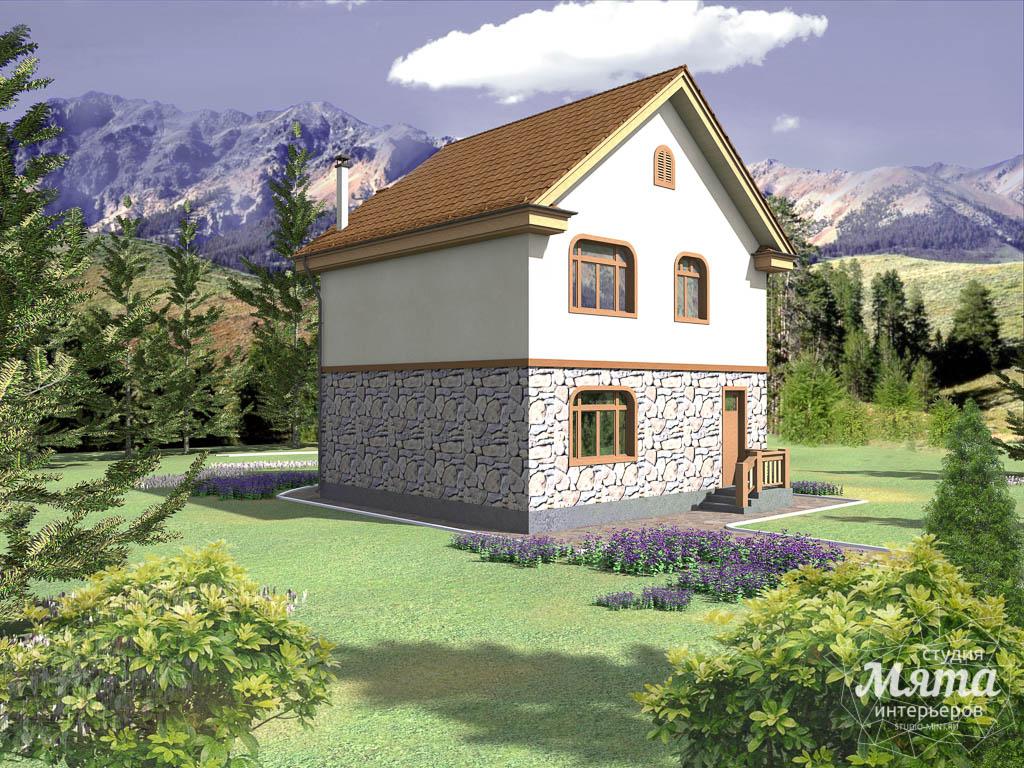 Дизайн фасада частного дома 100м2 в Щелкун 2