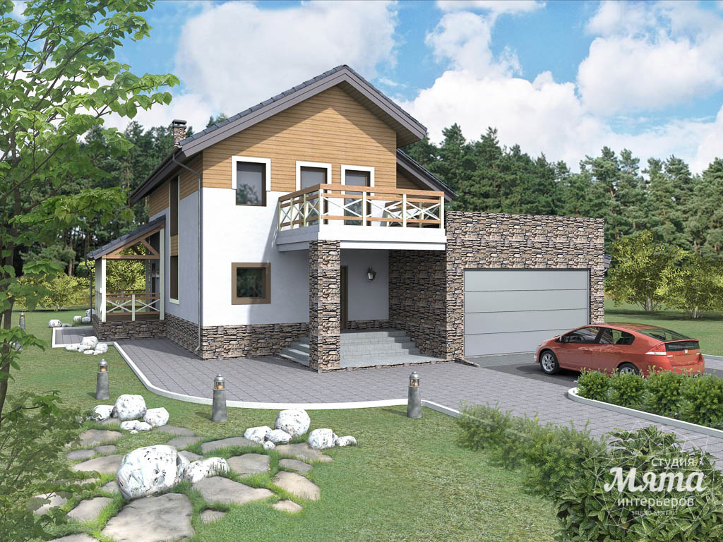 Дизайн фасада коттеджа 205м2 в г. Нижневартовск 4