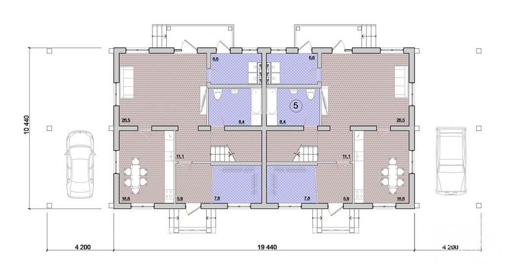Дизайн-проект фасада коттеджа 335 м2 в КП Лукоморье 4