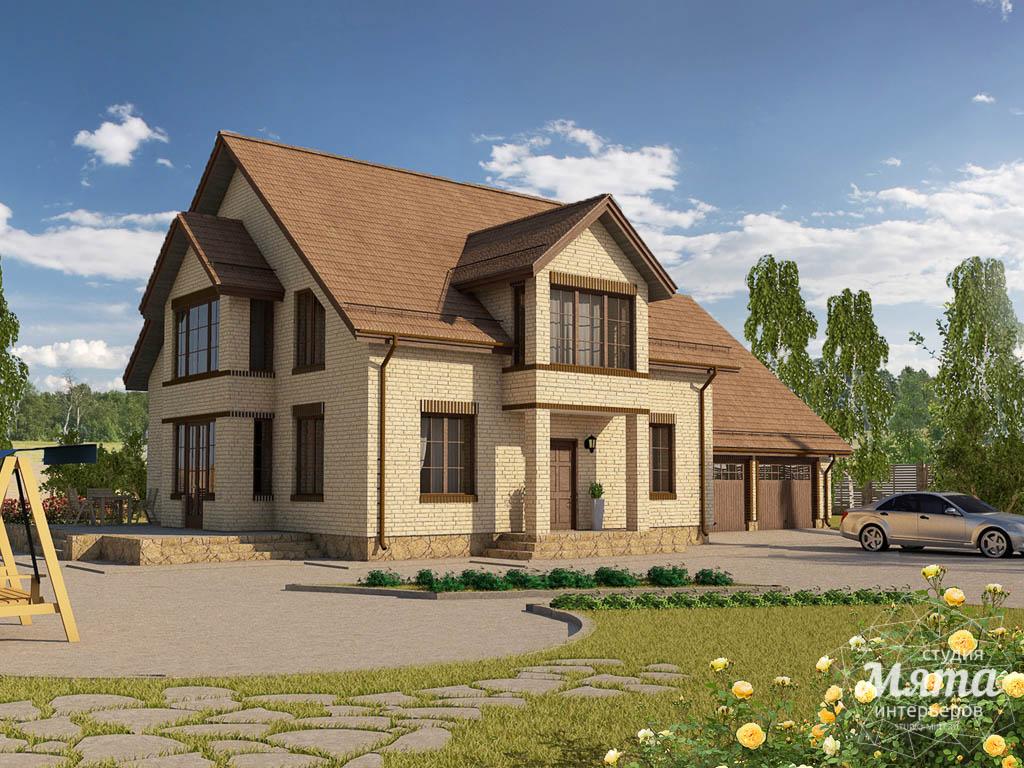 Дизайн проект фасада дома 330 м2 в КП Косулино 1