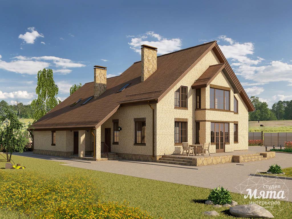 Дизайн проект фасада дома 330 м2 в КП Косулино 2