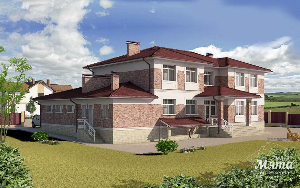 Дизайн фасада коттеджа 379 м2 в п. Мельница img598608168