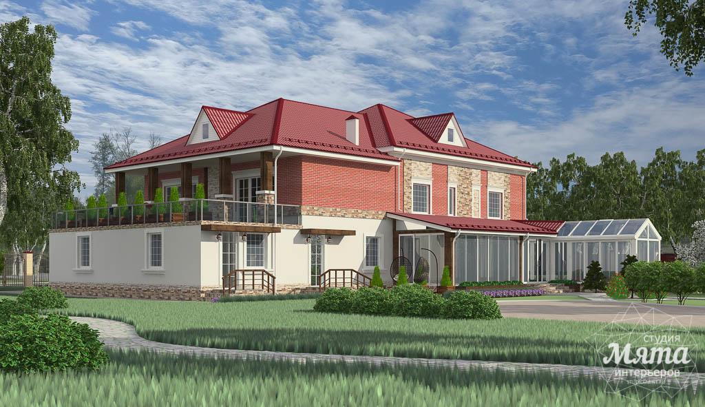 Дизайн фасада дома 532 м2 и бани 152 м2 г. Арамиль img413702482