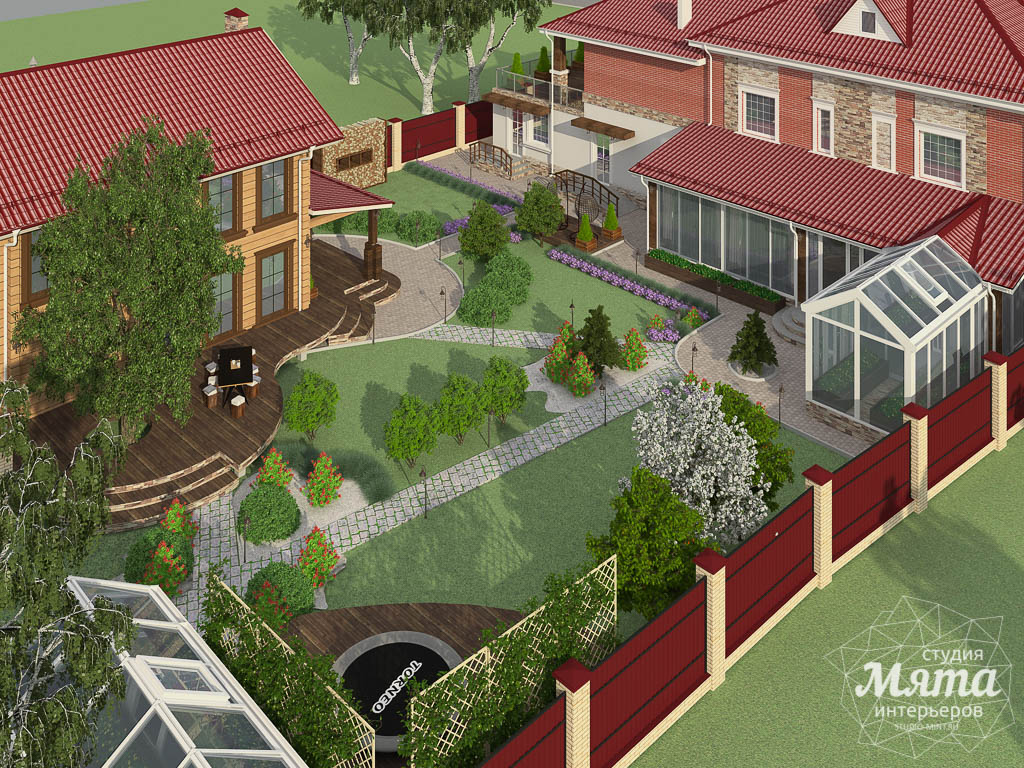 Дизайн фасада дома 532 м2 и бани 152 м2 г. Арамиль img278114870