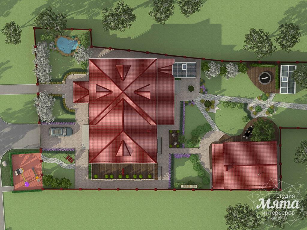 Дизайн фасада дома 532 м2 и бани 152 м2 г. Арамиль img510136954