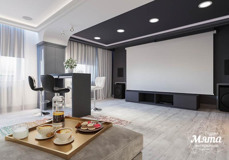 Дизайн интерьера домашнего кинотеатра в коттедже п. Кашино img1745100120