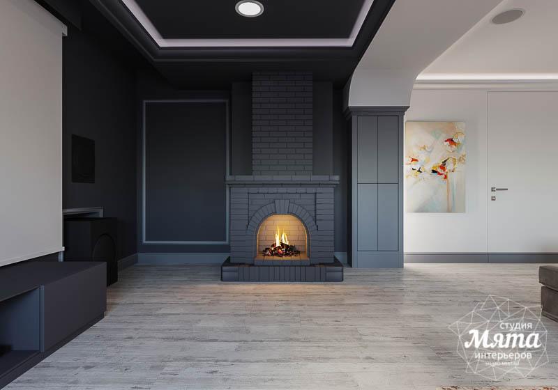 Дизайн интерьера домашнего кинотеатра в коттедже п. Кашино img2031122682
