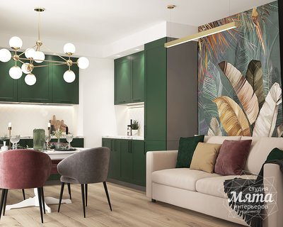 Дизайн интерьера однокомнатной квартиры ЖК Цветной Бульвар img2117143265